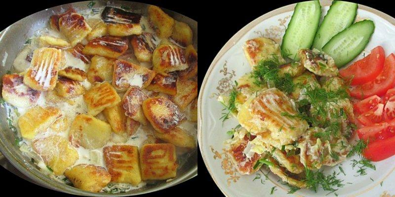 Картопляні галушки у вершковому соусі
