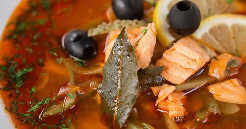 Рибна солянка подивитися рецепт