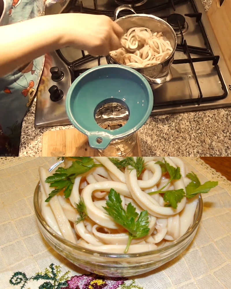 Мариновані кальмари в домашніх умовах