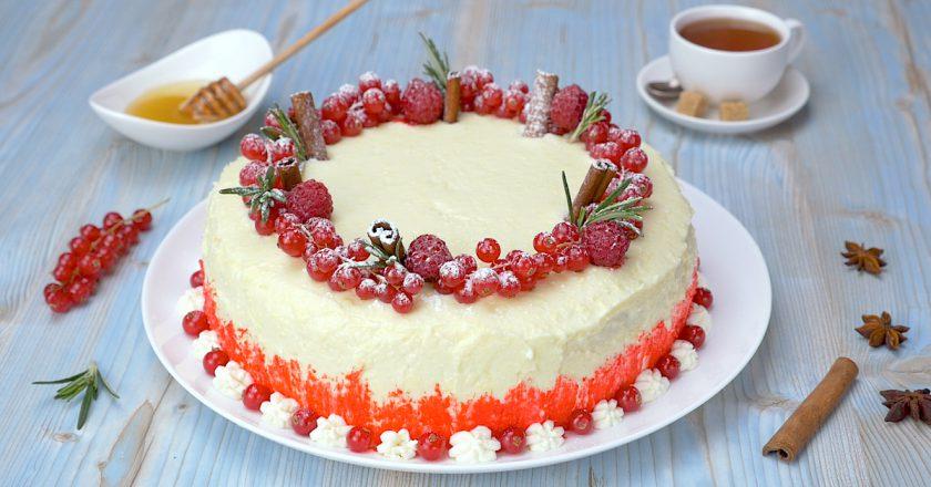 Торт «Ягідна фантазія» подивитися рецепт