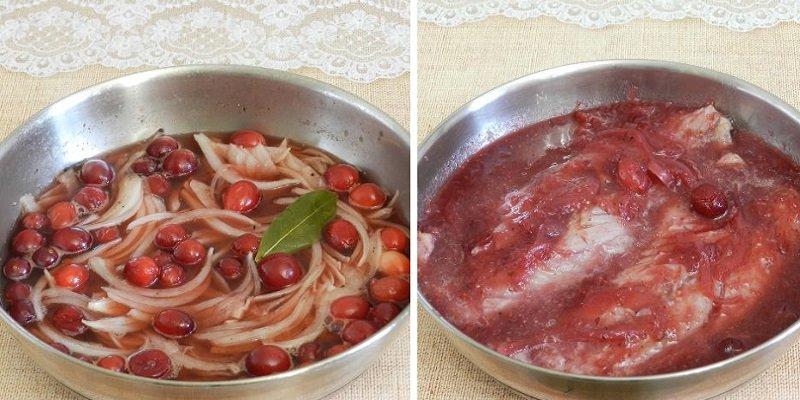 Скумбрія в журавлинному соусі