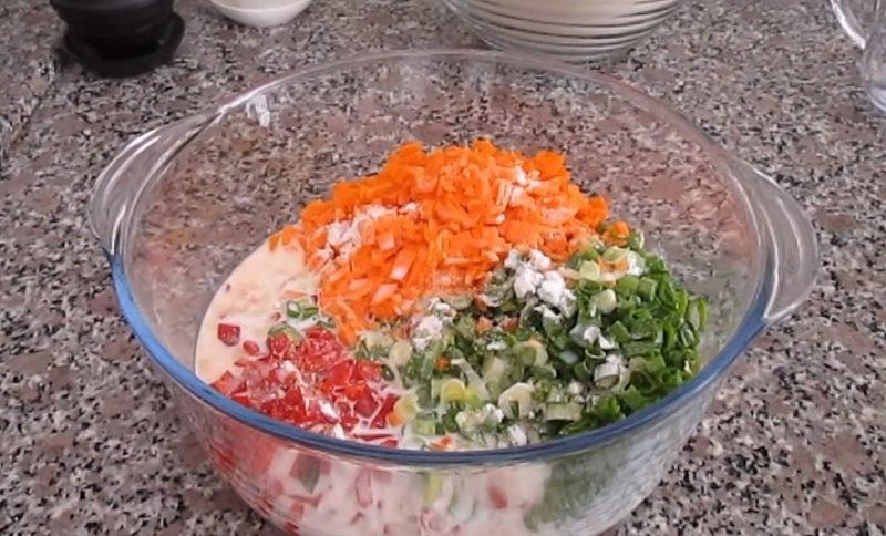 Коржі з овочами