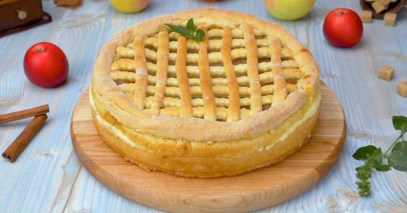 Яблучний пиріг з сиром подивитися рецепт