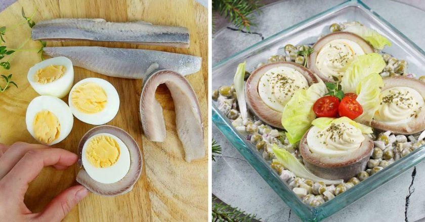 Оселедець з яйцями подивитися рецепт