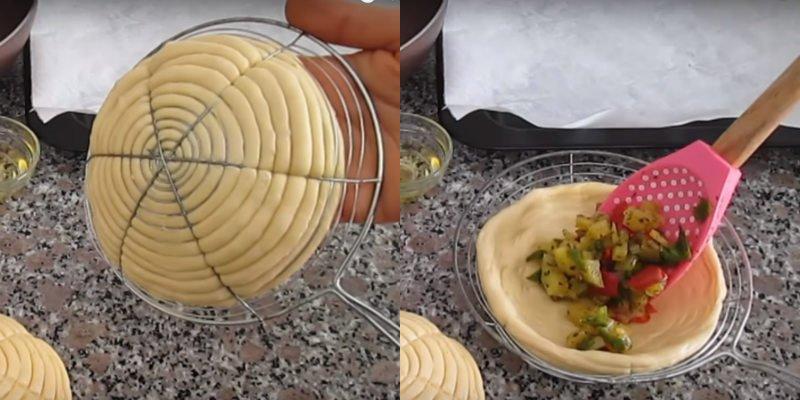 Дріжджові булочки з овочами