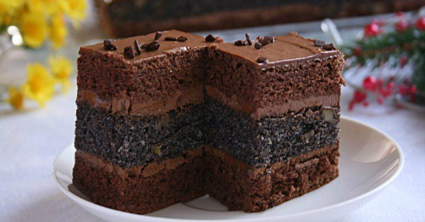 Шоколадний торт зі згущеним молоком подивитися рецепт