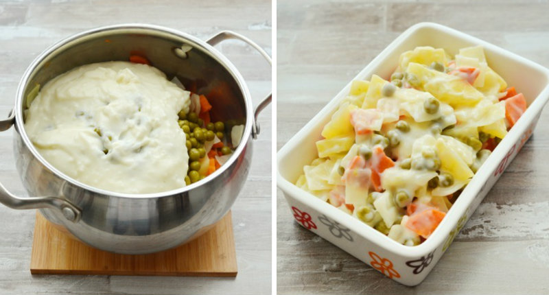 Овочі у вершковому соусі