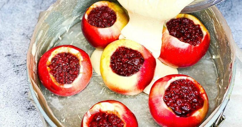 Яблучно-малиновий пиріг подивитися рецепт