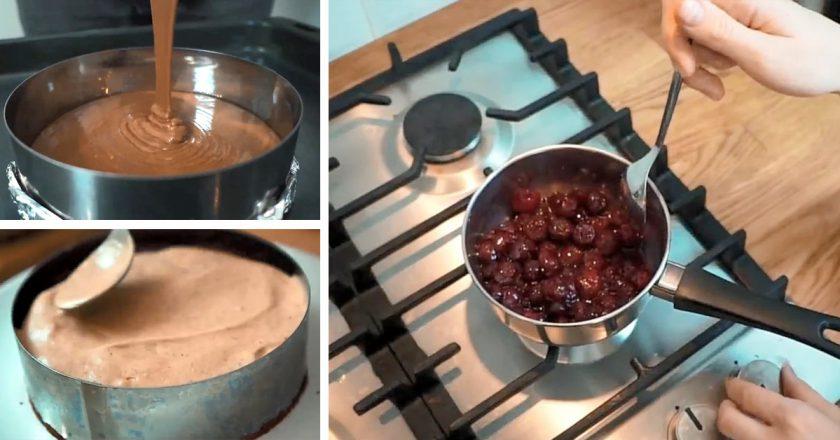 Пісний торт «Чорний ліс» подивитися рецепт