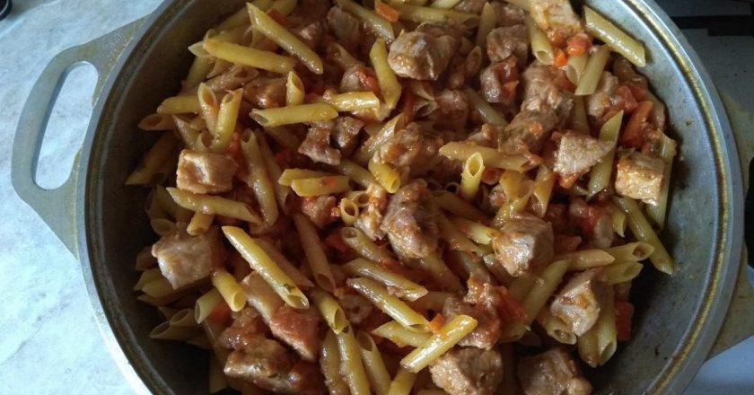 Татарські макарони з м'ясом подивитися рецепт