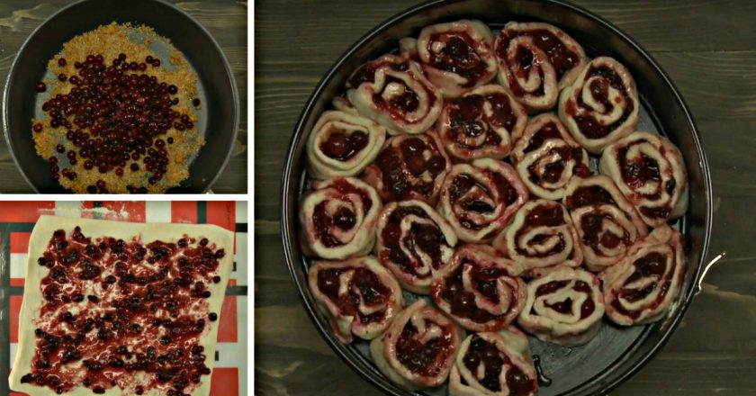 Журавлинний пиріг подивитися рецепт