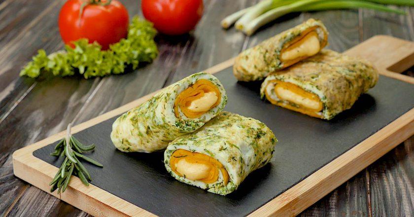 Двошаровий омлет з сиром як приготувати, покрокові рецепти від «Це Смак»
