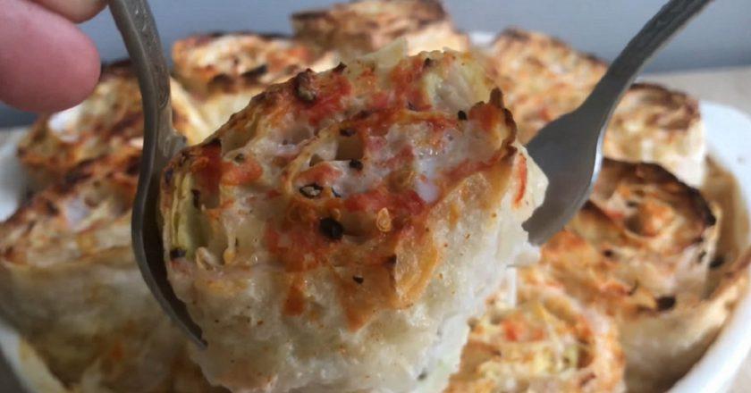 Пиріг з куркою і капустою в лаваші подивитися рецепт