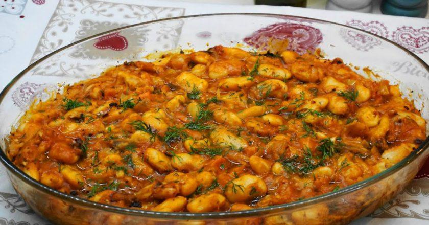 Запечена квасоля по-грецьки подивитися рецепт