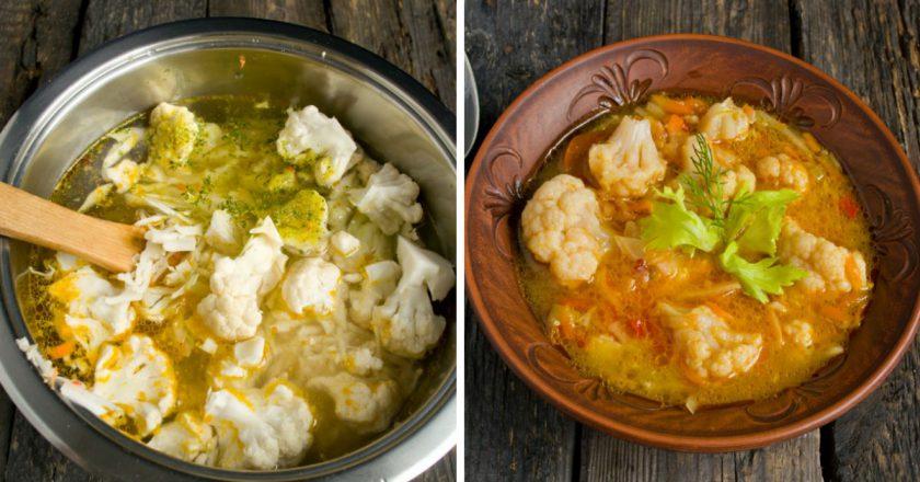 Пісний суп з цвітної капусти подивитися рецепт
