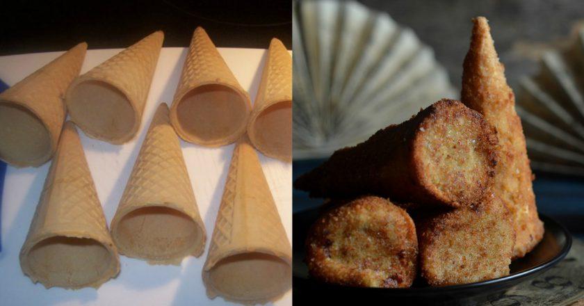 Капустяні крокети у вафельних трубочках подивитися рецепт