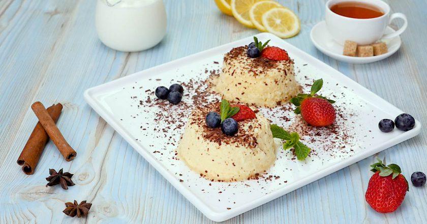 Імбирний муссовий крем з ягодами подивитися рецепт