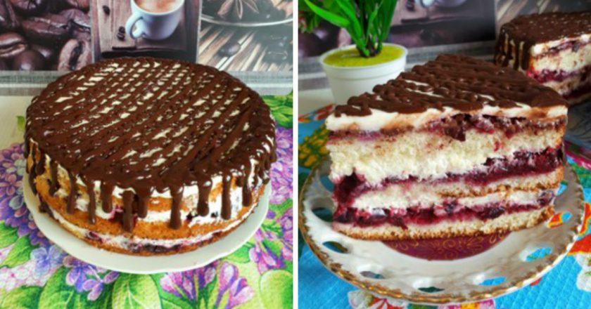 Бісквітний торт з маскарпоне подивитися рецепт