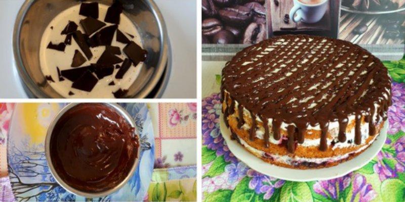 Бісквітний торт з маскарпоне