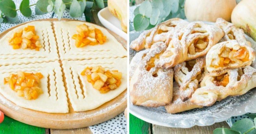 Сирні булочки з яблуками подивитися рецепт