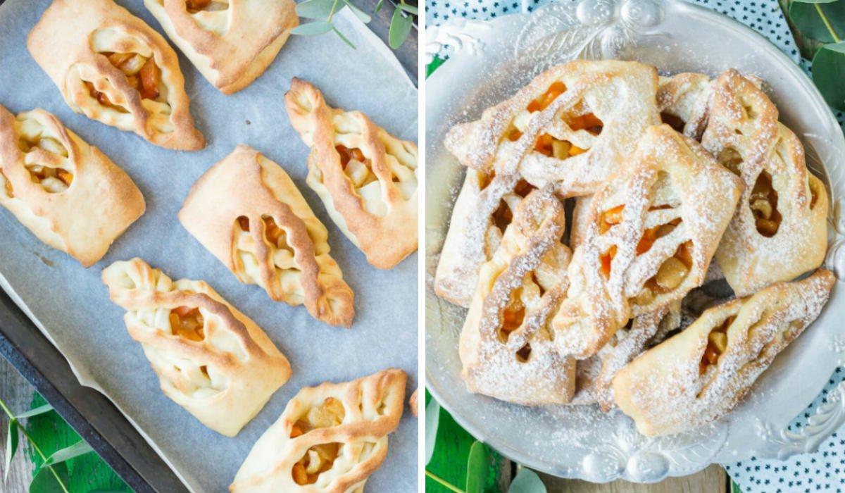 Сирні булочки з яблуками