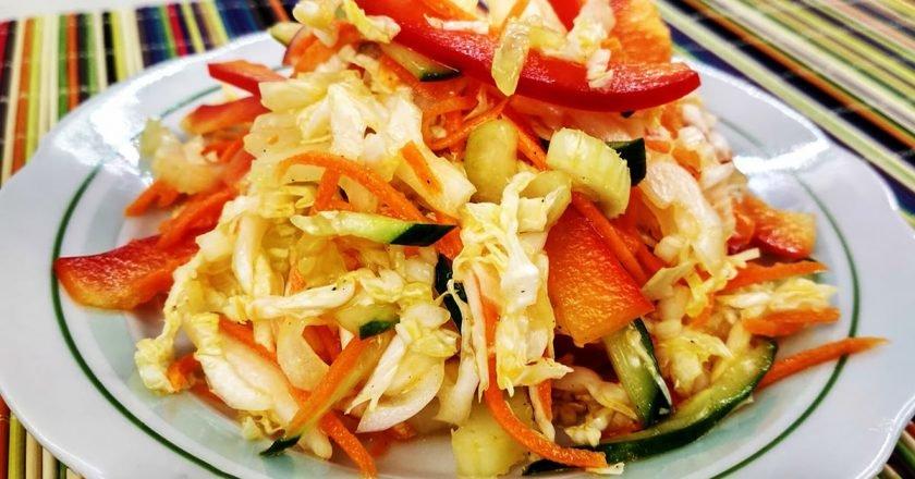 Овочевий салат «Вітамінка» подивитися рецепт