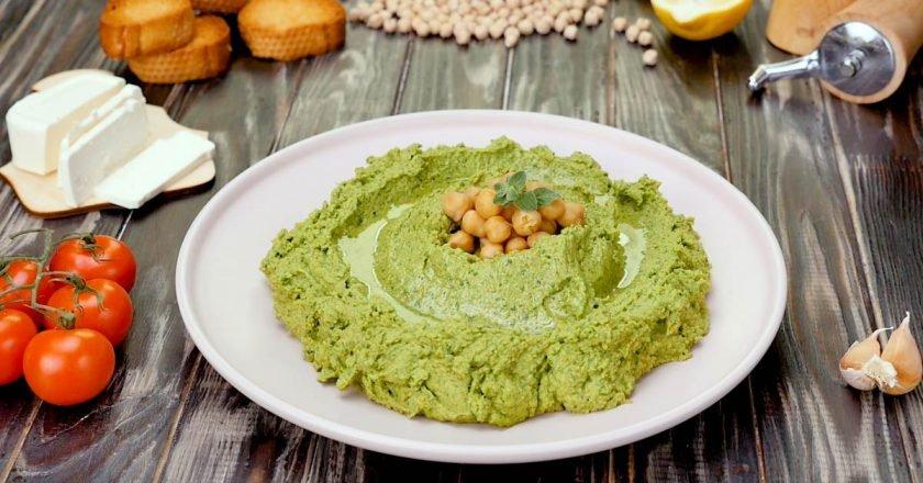 Хумус зі шпинатом і фетою подивитися рецепт