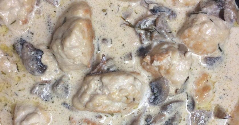 Курячі котлети в грибному соусі подивитися рецепт