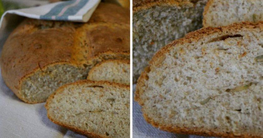 Хліб з вівсяними пластівцями подивитися рецепт