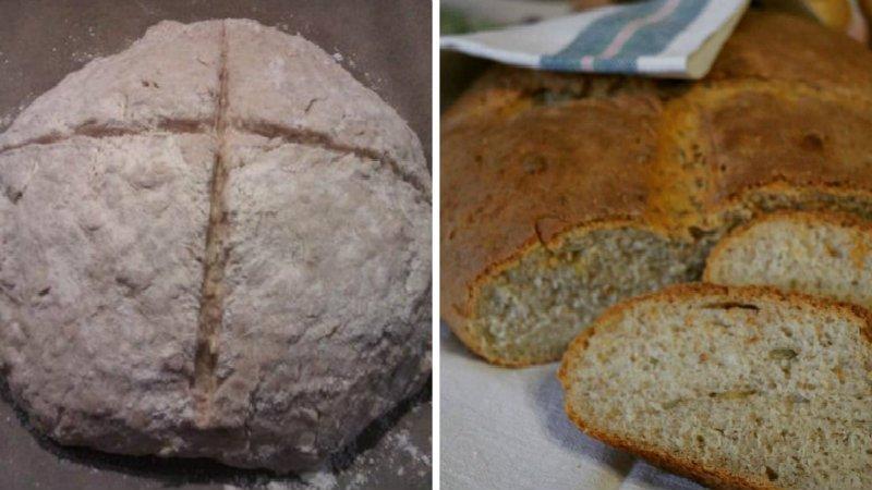 Хліб з вівсяними пластівцями