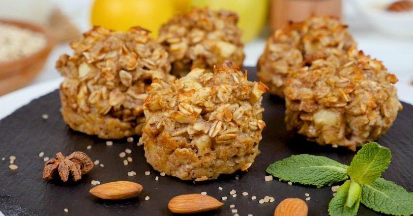 Вівсяні кекси з яблуками і корицею подивитися рецепт