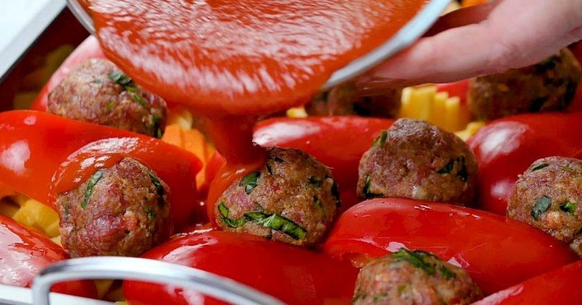 Тефтелі з овочами в духовці - Це Смак подивитися рецепт