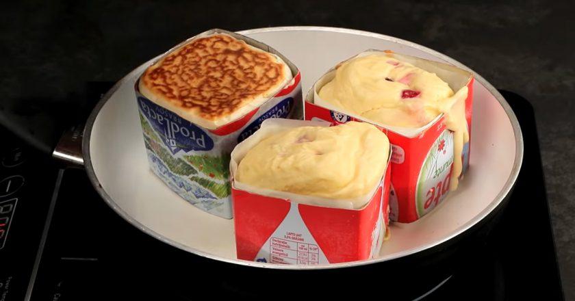 Кекси в коробці з-під молока подивитися рецепт