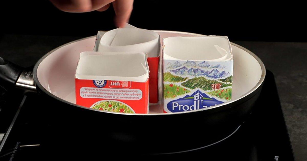 Кекси в коробці з-під молока