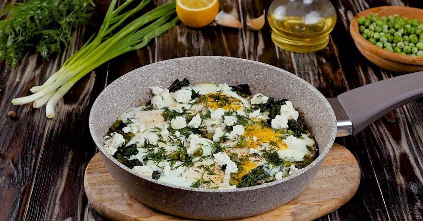 Зелена шакшука зі шпинатом: покроковий рецепт подивитися рецепт