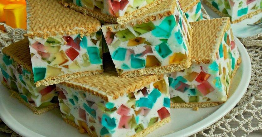 Торт з печива «Бите скло» подивитися рецепт