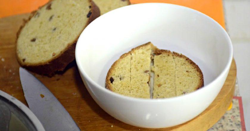 Солодкі грінки з паски подивитися рецепт