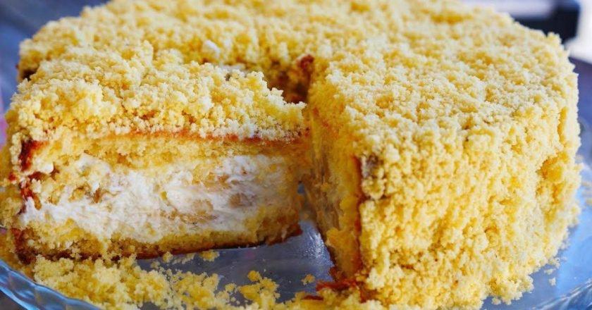 Домашній банановий торт від Ольги Матвій подивитися рецепт