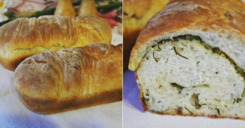 Хліб з кропом і часником в духовці подивитися рецепт