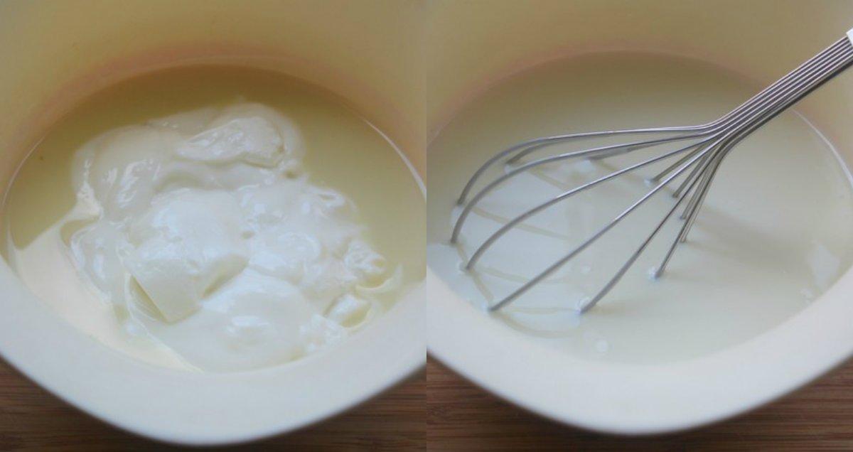 Простий молочний десерт в мультиварці