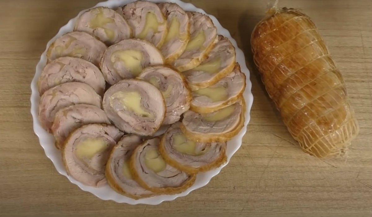 Курячі рулети з сиром в маринаді