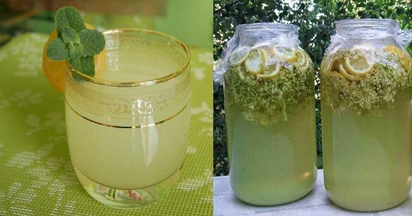 Домашній лимонад з бузини подивитися рецепт
