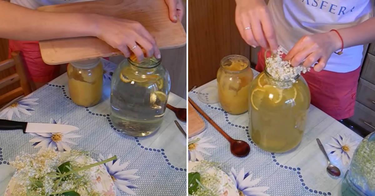 Домашній лимонад з бузини