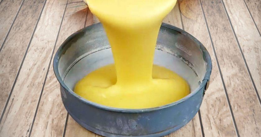 Вологий банановий пиріг на молоці подивитися рецепт
