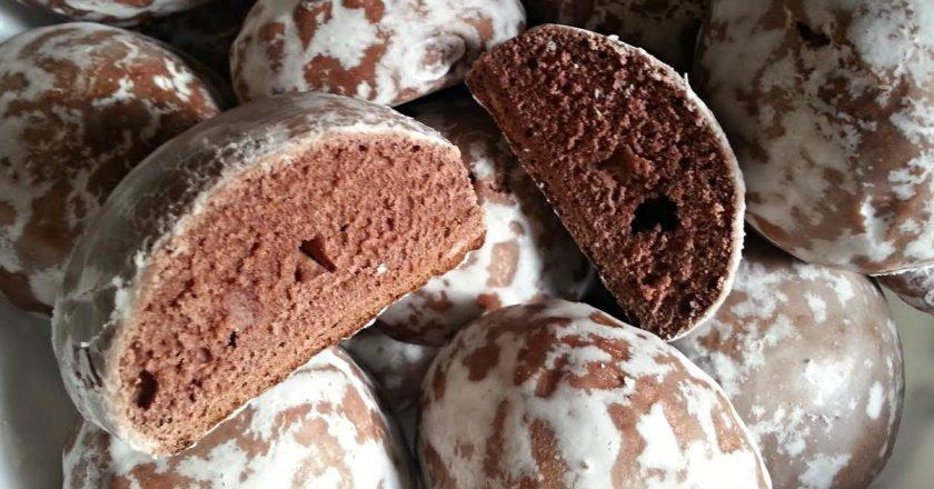 Шоколадні пряники в цукровій глазурі подивитися рецепт