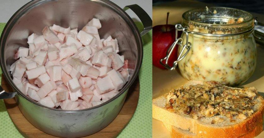 Смалець з яблуками подивитися рецепт