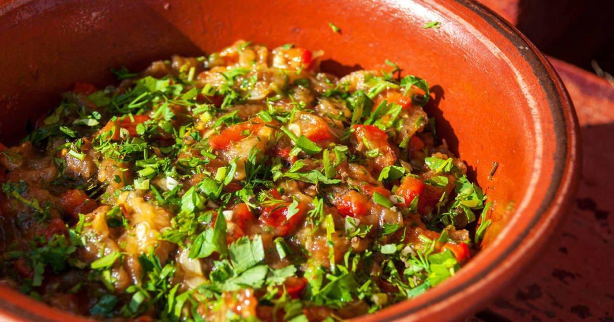 Салат «Мангал» з овочів, запечених в духовці