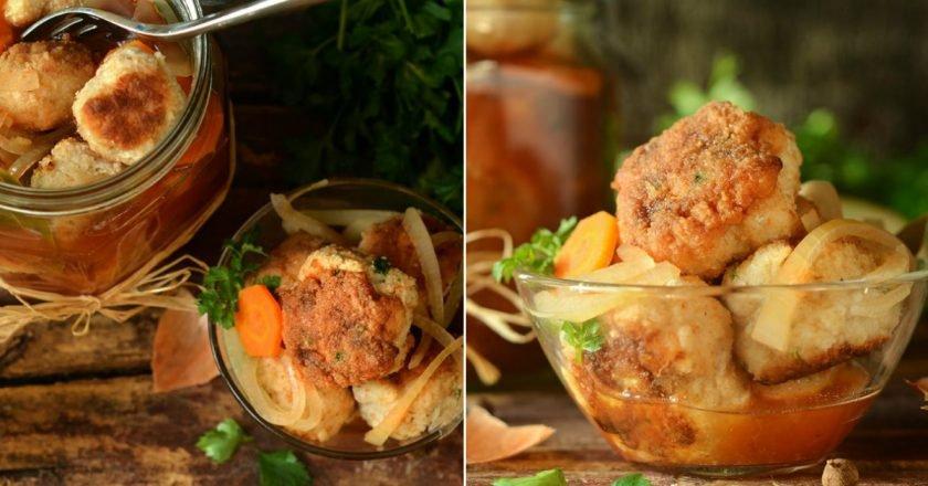 Заготівля: рибні фрикадельки в маринаді подивитися рецепт