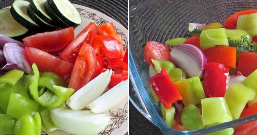 Ароматні овочі в духовці «Три перці» подивитися рецепт