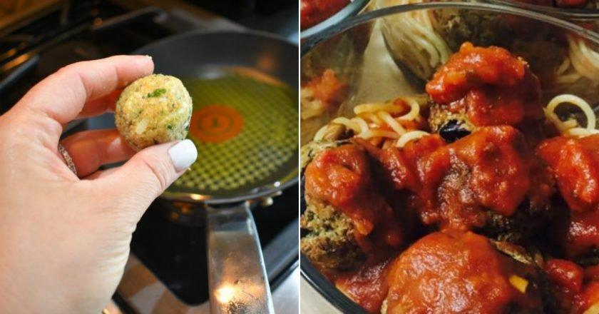 Фрикадельки з баклажана в томатному соусі подивитися рецепт